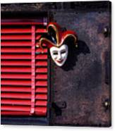 Mask By Window Canvas Print
