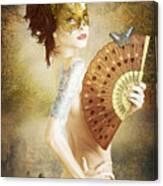 Masked Lady Canvas Print