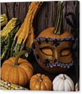 Masked Pumpkin Canvas Print