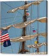 Mast Flags Canvas Print