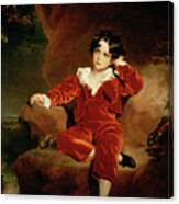 Master Charles William Lambton Canvas Print