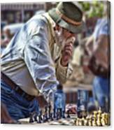 Master Chess Player Canvas Print
