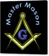 Master Mason In Black Canvas Print