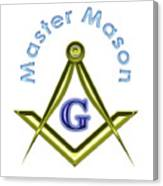 Master Mason In White Canvas Print