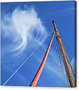 Masts And Clouds Canvas Print