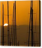 Masts At Dawn Canvas Print