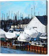 Masts On The Kinnickinnic River Canvas Print