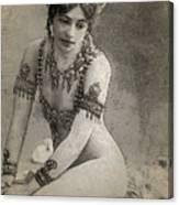 Mata Hari Sketch Canvas Print