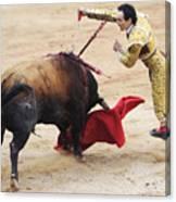 Matador El Cid II Canvas Print