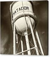 Matador Texas Water Tower Canvas Print