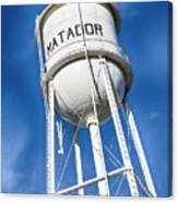 Matador Water Tower Canvas Print