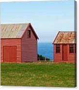 Matanaka Historic Site - Red Barn Canvas Print
