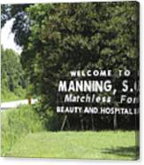 Matchless Manning Canvas Print