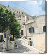 Matera's Colorful Laundry Canvas Print