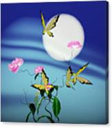 Math Peony And Butterfly Canvas Print