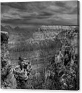 Mather Point B/w Canvas Print