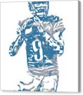 Matthew Stafford Detroit Lions Pixel Art 5 Canvas Print