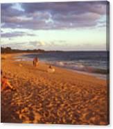 Maui Beach In Evening Canvas Print