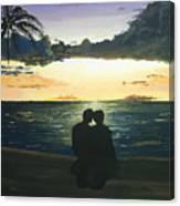 Maui Beach Sunset Canvas Print