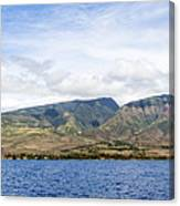 Maui - View From The Boat Canvas Print