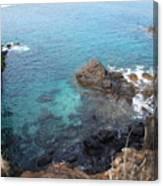 Maui Water And Rocks Canvas Print