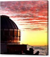 Mauna Kea Observatory Hawaii Canvas Print