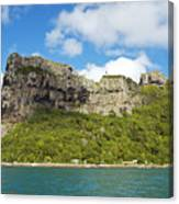 Maupiti Island Cliff Canvas Print