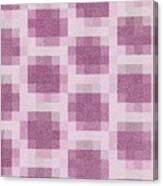 Mauve Plaid Pattern Canvas Print
