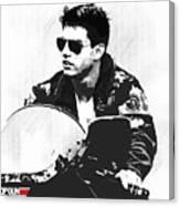 Maverick, Top Gun, Kawasaki Ninja 900, F - 14a Tom Cat, Tom Cruise Canvas Print