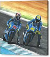 Maverick Y Aleix Full Brake Canvas Print