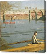 Max Schmitt In A Single Scull Canvas Print