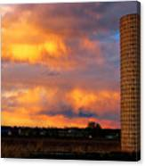 May Day Silo Sunset Canvas Print