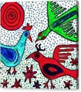 Mayan Birds Canvas Print