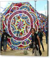 Mayan Patterns Kite Canvas Print