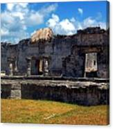 Mayan Ruins In Tulum 2 Canvas Print