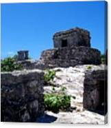 Mayan Ruins In Tulum Canvas Print