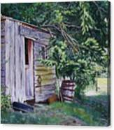 Mayne Island Sawmill Canvas Print