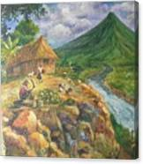 Mayon Scene #1 Canvas Print