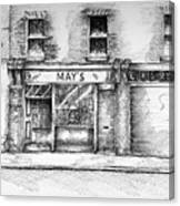 Mays Shop North King Street Dublin 7 Canvas Print