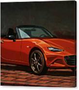 Mazda Mx-5 Miata 2015 Painting Canvas Print