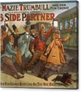 Mazie Trumbull And Her Fun Crowd Dads Side Partner Vintage Entertainment Poster 1908 Canvas Print