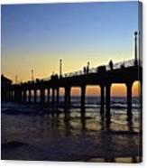 Mb Pier Sunset Canvas Print