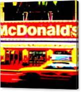 Mc Donalds On Broadway  Canvas Print