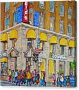 Mcdonald Restaurant Old Montreal Canvas Print