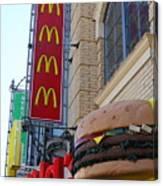Mcdonalds Hamburger Restaurant . Fishermans Wharf . San Francisco California . 7d14249 Canvas Print