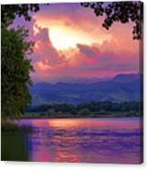 Mcintosh Lake Sunset Canvas Print
