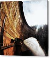 Mckays Dam Waterjet Canvas Print