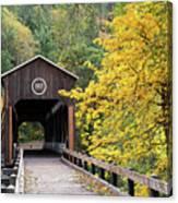 Mckee Bridge In Fall Canvas Print