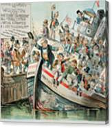Mckinley Cartoon, 1896 Canvas Print