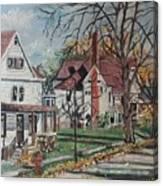 Mckinley Street, Bay City, Mi Canvas Print